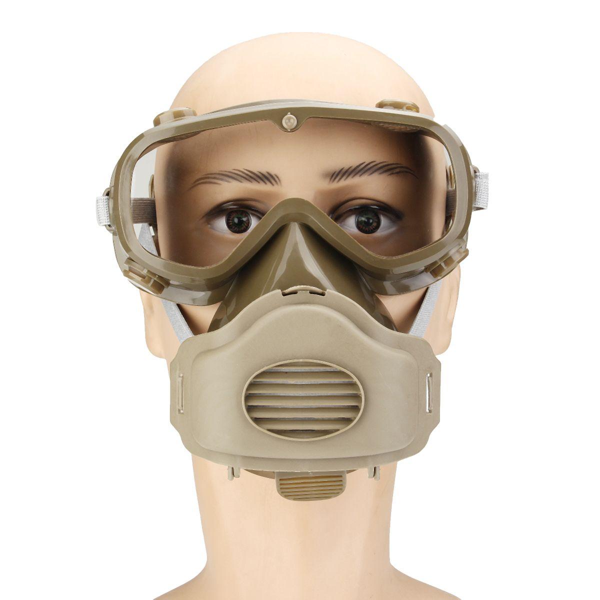 Gas Maske Volle Gesicht Gesichts Atemschutz Für Malerei Spritzen Schutzbrille Atemschutz Gas Chemische Staub Rauch Farbe Protector