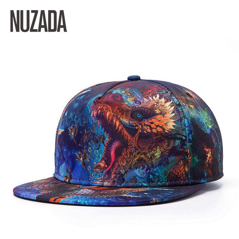 Marca NUZADA Color Patrón de Impresión Mujeres de Los Hombres de Tendencias de La Moda Hip Hop Sombrero Sombreros Gorra de béisbol Casquillos Del Snapback Hueso