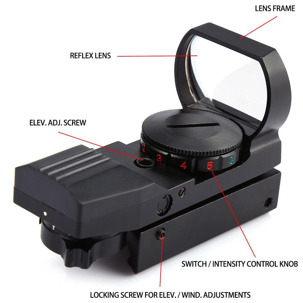 11 мм Охота голографическая jh400 голографическая Электро Красный зеленый точка Коллиматорный прицел 11 мм 11x22x33 4 Сетка зрение тактические