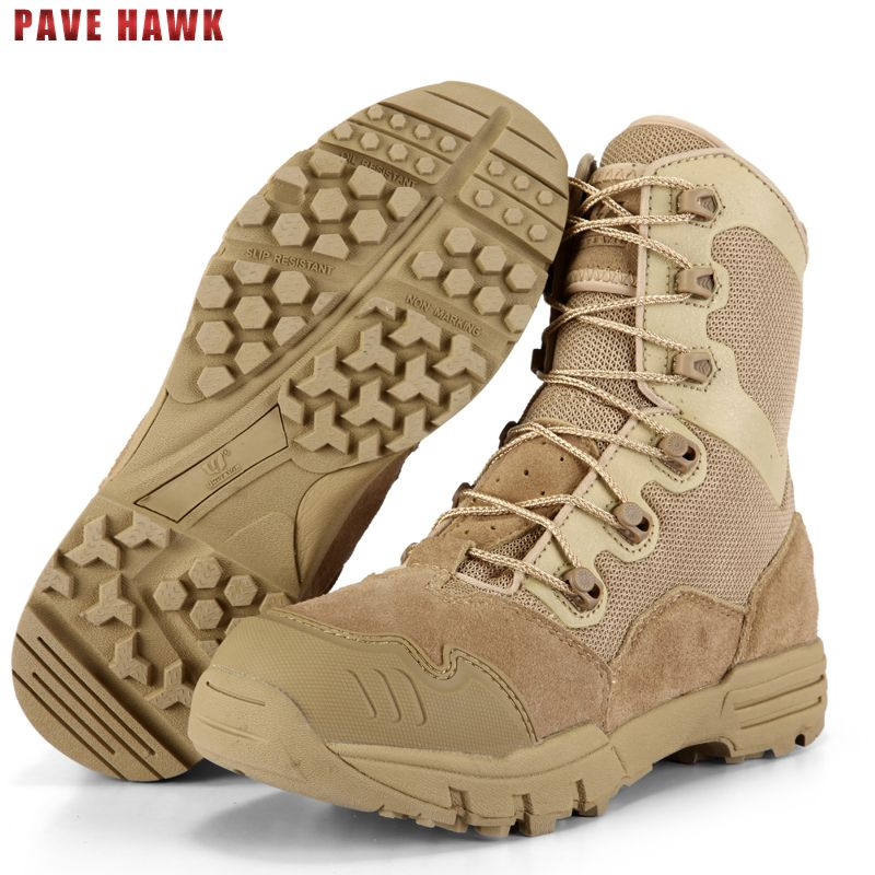 PAVE HAWK quality Brand Sneakers Leather hiking shoes men Outdoor sports Hunting Military trekking Women Fishing Tactical boots