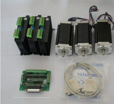 Nema 23 Stepper Motor 425oz-in 3Axis CNC Driver with 4.2A ,50VDC, 128 Microstep Mill