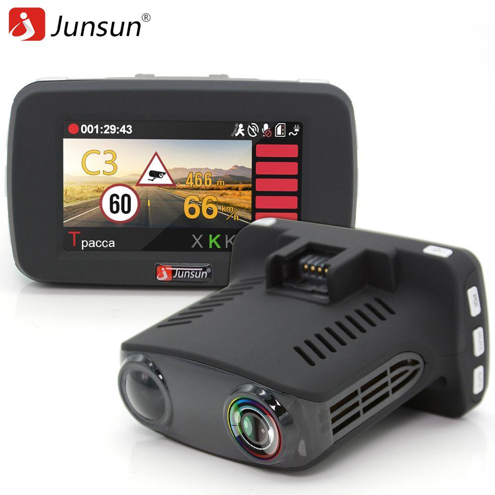 Junsun Car Radar detector 3 in 1 for Russia with GPS DVR Camera FHD 1080P dash cam X/K/Ka/La/CT car dvr anti radar detectors