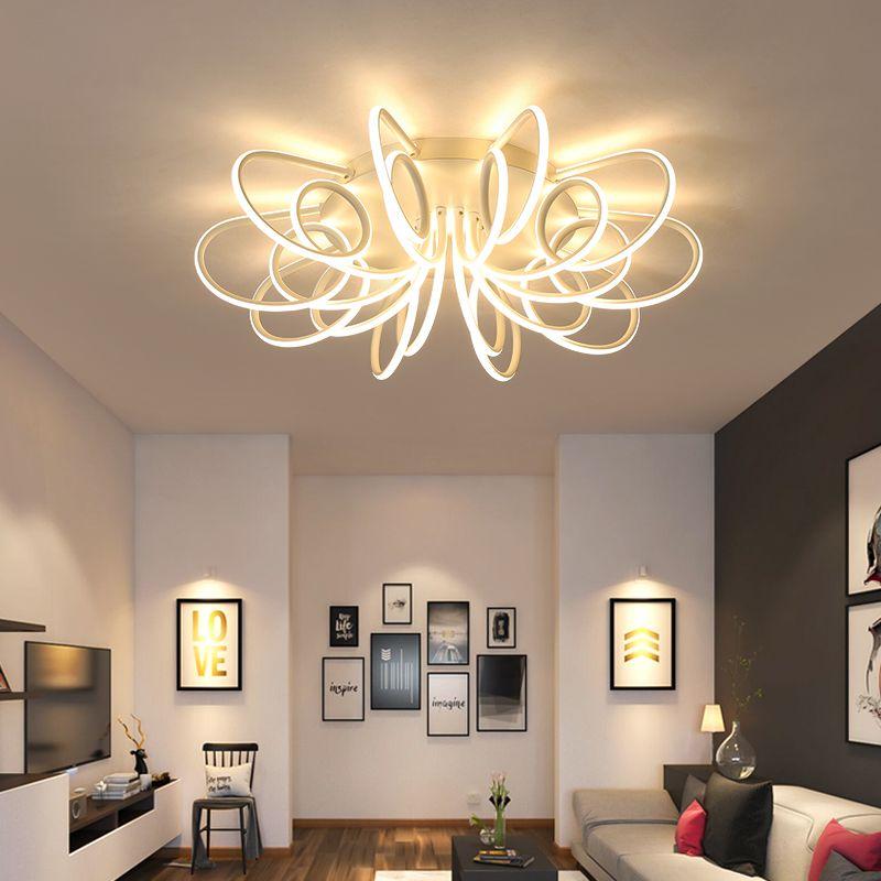 NEW Modern LED Chandeliers For Living Room Bedroom Diningroom Fixture Chandelier Ceiling lamp Dimming home lighting luminarias