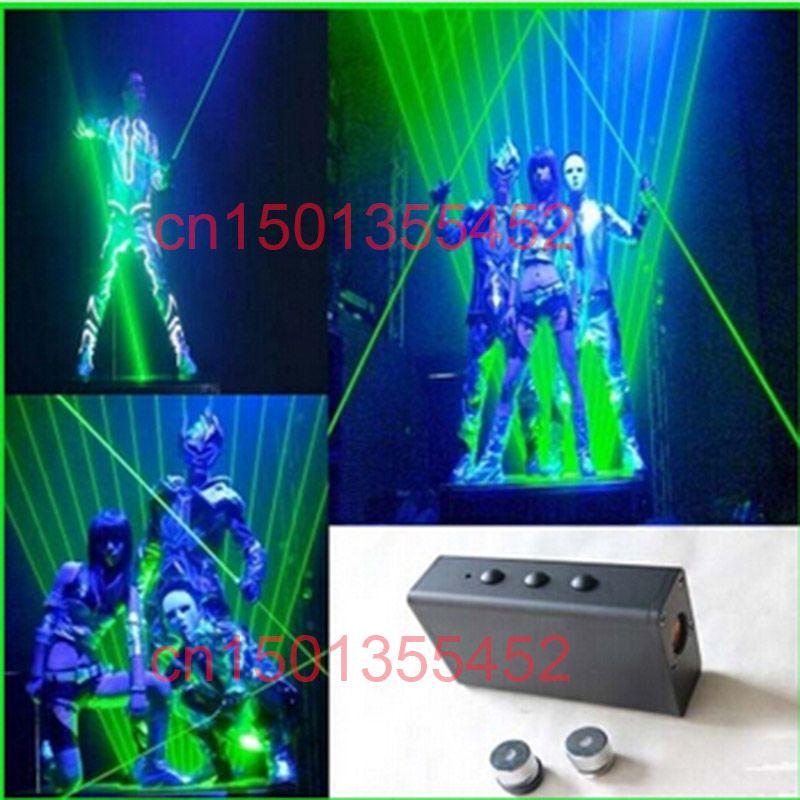 100 mW Mini puntero Láser Dual Dirección Espada Láser Verde Para Hombre Demostración Del Laser 532nm láser Portátil de apoyos de la danza