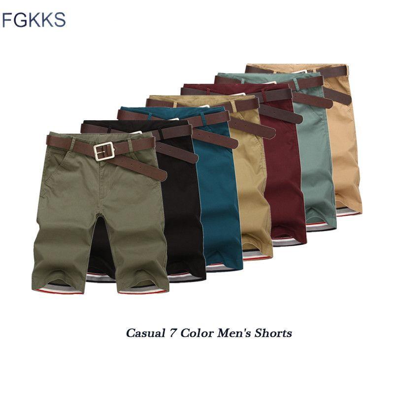 FGKKS Shorts hommes nouvelle mode décontracté casual coton Slim Bermuda Masculina Shorts de plage Joggers pantalons Shorts hommes