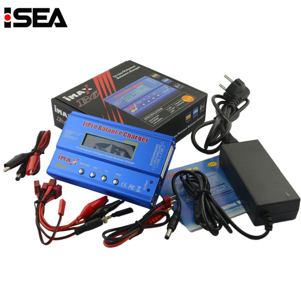 New iMAX B6 80W with AC Adapter 15V 6A Power Supply RC Lipo Battery Balance <font><b>Charger</b></font> Discharger 50W B6 & 12V 5A adapter Optional