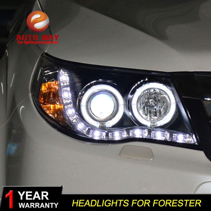Hohe qualität Auto Styling fall für Subaru Forester 2008-2012 Scheinwerfer LED Scheinwerfer DRL Objektiv Doppel Strahl HID-Xenon-