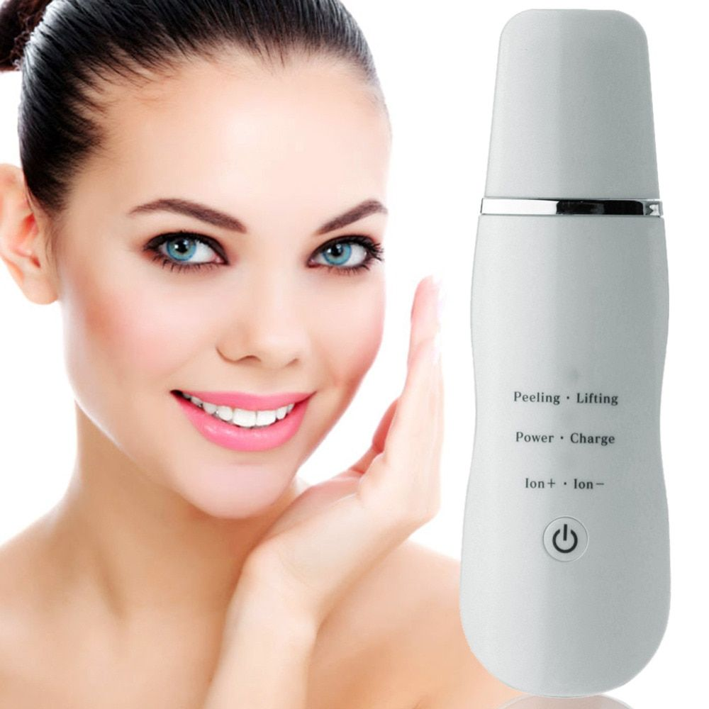 Portable Ultrasonic Skin Scrubber Deep Clean Vibration Facial Exfoliator Peeling Massager Cleaner Skin Care USB Rechargeable