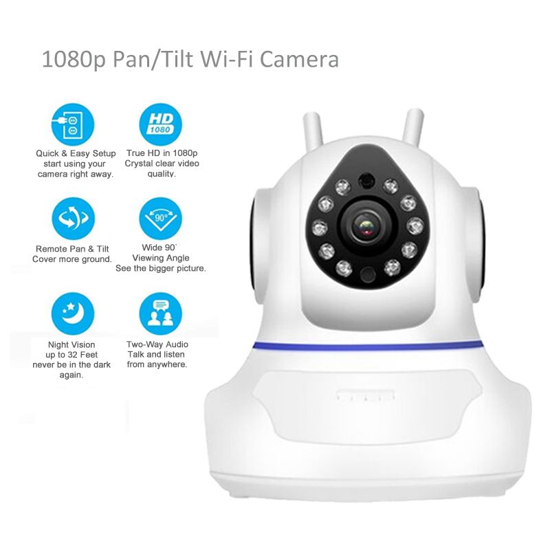 1080P IP Camera WiFi Home Surveillance Camera Wireless Network Camera Wifi Night Vision CCTV Camera Baby Monitor 1920*1080