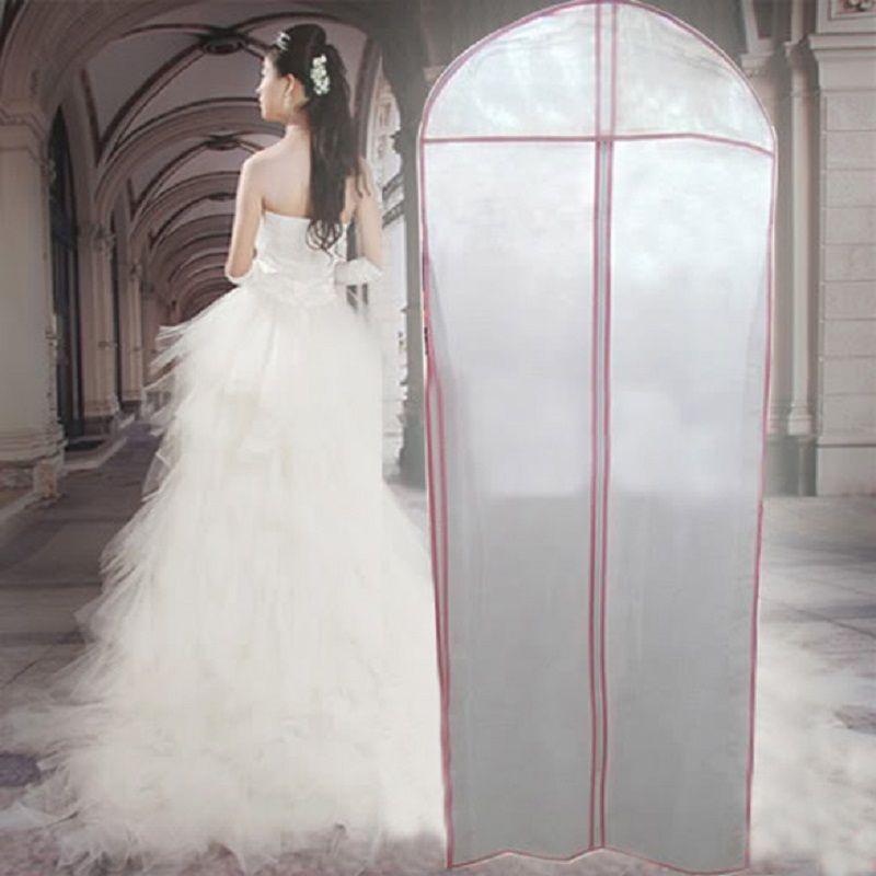 Kleidungsaufbewahrungstasche Abdeckungen für Hochzeit Kleid Kleid Kleidung Schutzfall Hochzeit Kleid Staubdichte Abdeckung Portector