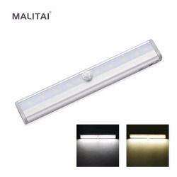 Wireless PIR Motion Sensor LED Night light Battery Power LED Strip Bar Wall lamp For Closet, Wardrobe, Cabinet, Stairs, Hallway