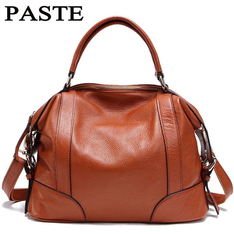Paste lady echtes leder handtaschen berühmte marken designer-handtaschen hoher qualität einkaufstasche bolsa femininas europäische klapp stil t235