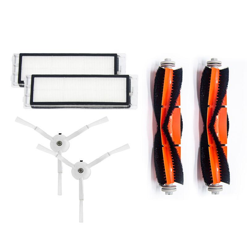 Filtre Hepa aspirateur pièces pour Xiao mi mi roborock Robot accessoires S5 S50 2 filtre HEPA + 2 brosse latérale + 2 brosse principale