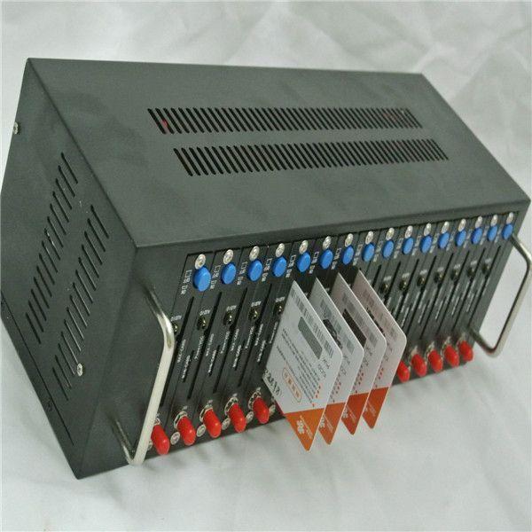 16 port GSM modem pool wavecom SIERRA SL6087 modul SMS Caster software IMEI Veränderbar Aufladen System USSD STK