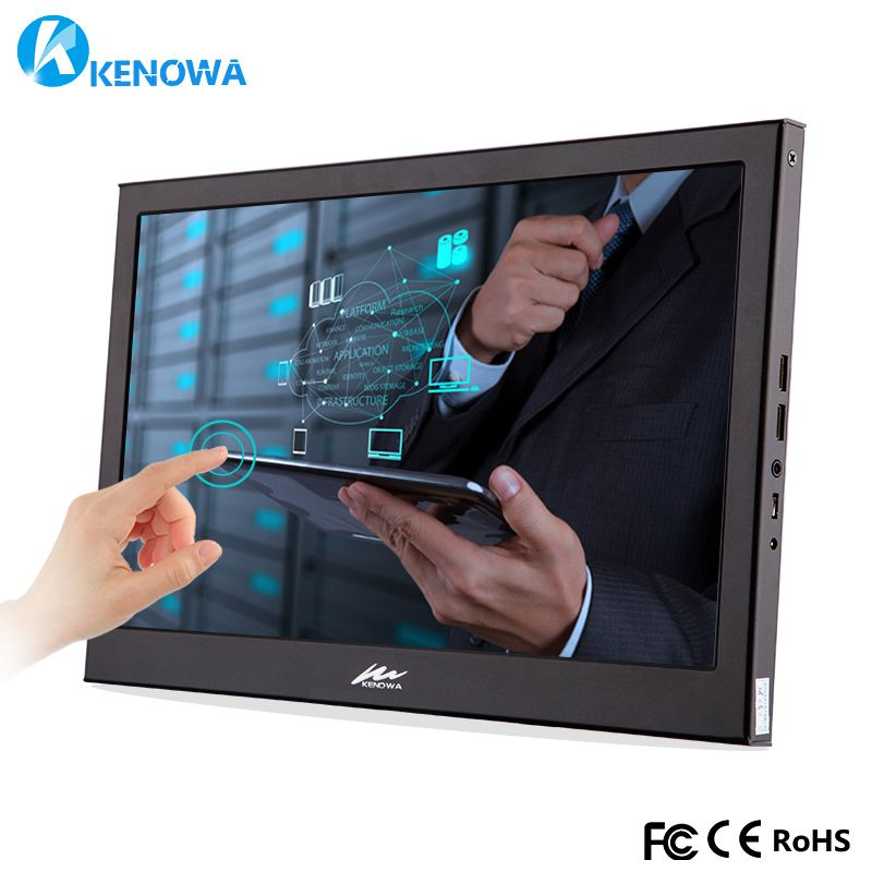 13.3 1920x1080 IPS Portable Computer Touch Monitor PC HDMI PS3 PS4 Xbox 1080P LCD LED Display Monitor for Raspberry Pi 3 B 2B