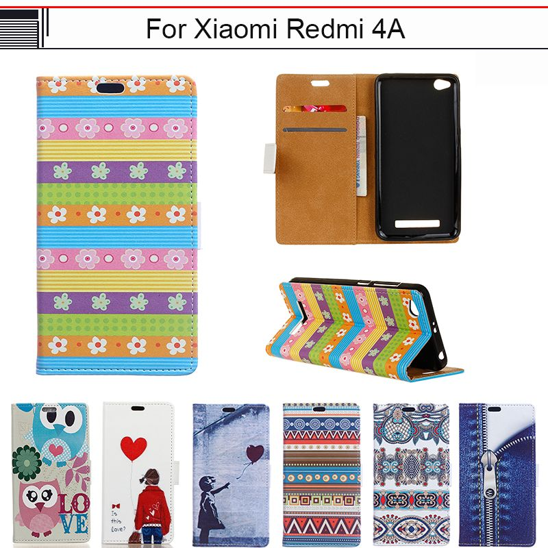 EiiMoo Funda Capa For Xiaomi Redmi 4A Case Cartoon Luxury Wallet Flip Leather Cover For Xioami Redmi 4A 4 A Phone Cover Case 5.0