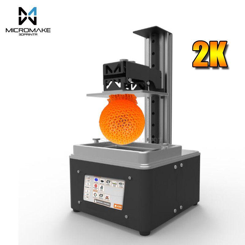 Micromake New L3 UV-LED Light-Curing DLP 3d printer wifi Auto-Slicer fast 405nm UV resin 115*65*200mm sla dlp Impresora gift