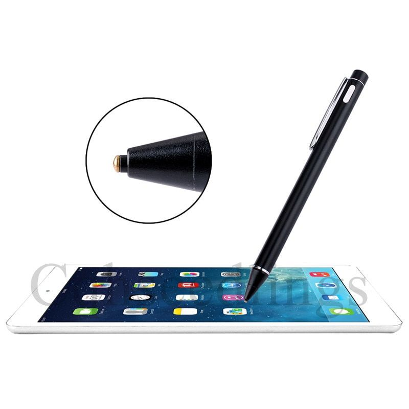 Cqhseedlings Active Capacitive Stylus pen with Metal penpoint for ipad for iphone for samsung tablet and smartphone