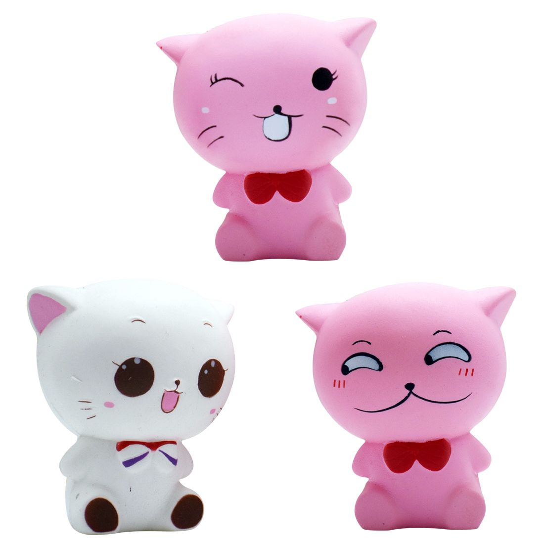Etmakit Big Jumbo Cute Kawaii Cat Squishy Squeeze Squishi Squshy Toy Slow Rising for Adults Relieves Stress Anxiety Decoration