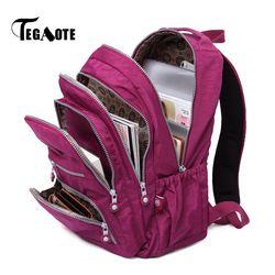 TEGAOTE Women Backpack School Bag for Teenage Girls Mochila Feminina Mujer Female Laptop Bagpack Travel Back Pack Ladies 2019