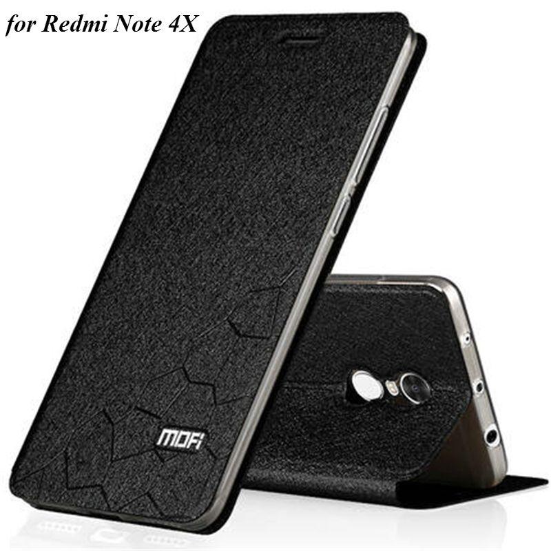 Étui en cuir MOFI Original pour Xiaomi Redmi Note 4X étui en cuir PU avec fonction de support pour Hongmi Note 4X5.5 pouces Fundas