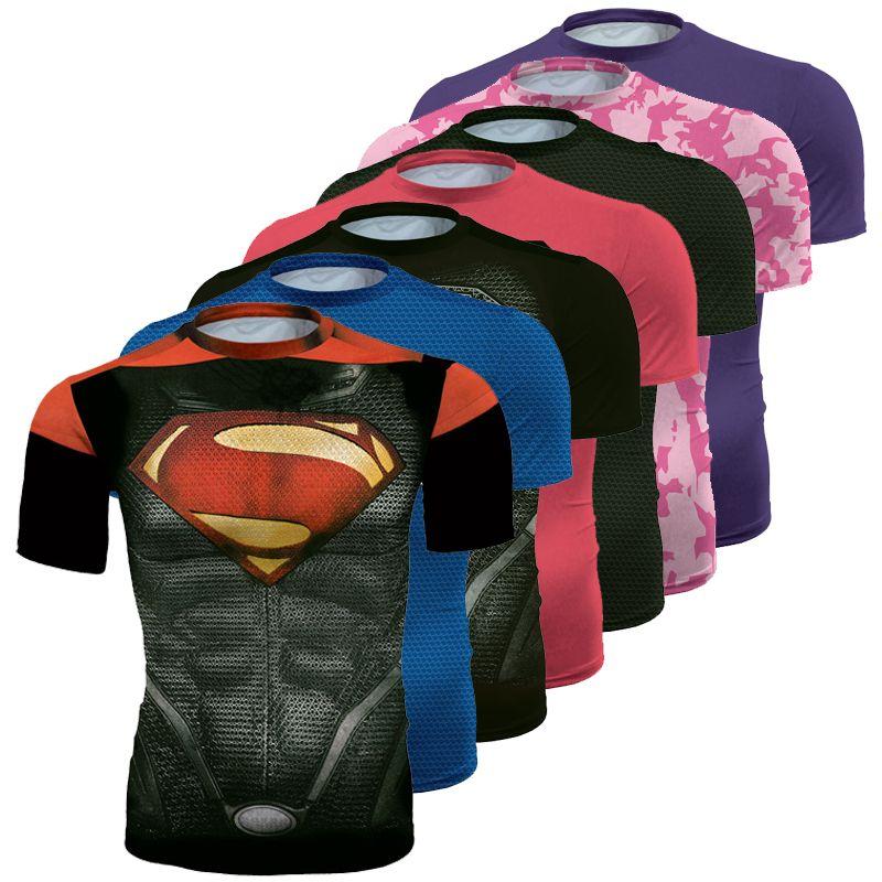 Новый Фитнес сжатия рубашка Для мужчин Супермен Бодибилдинг 3D футболка Crossfit футболка 3D печатных Капитан Америка супергероя Топ