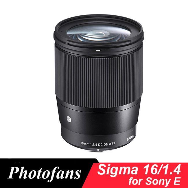 Sigma 16/1,4 Objektiv 16mm f1.4 DC DN Zeitgenössische Objektiv für Sony E-mount Kameras, schwarz A6500 A6300 A6000 A5100 A5000