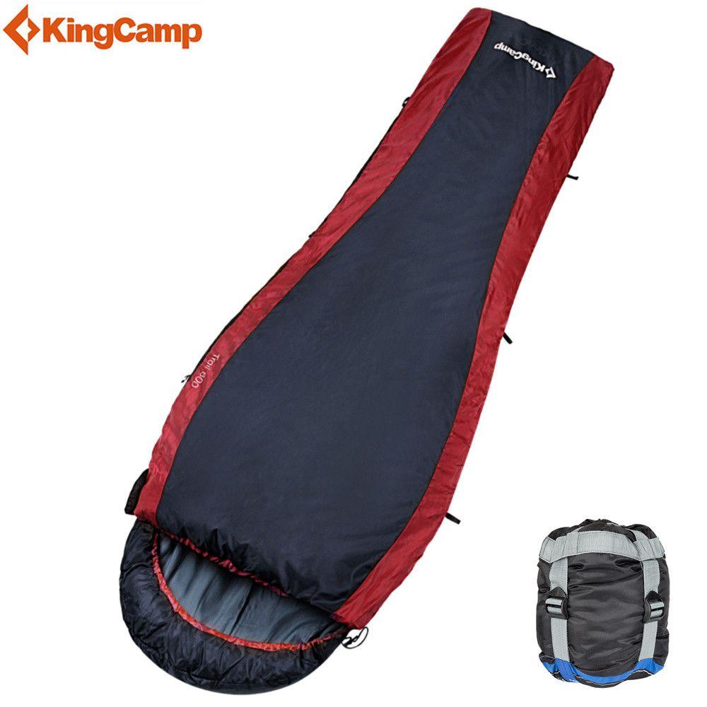 KingCamp Camping schlafsack 215 cm Erwachsenen Winterschlafsack Ultraleicht Menschlichen faul tasche mit kompressionssack