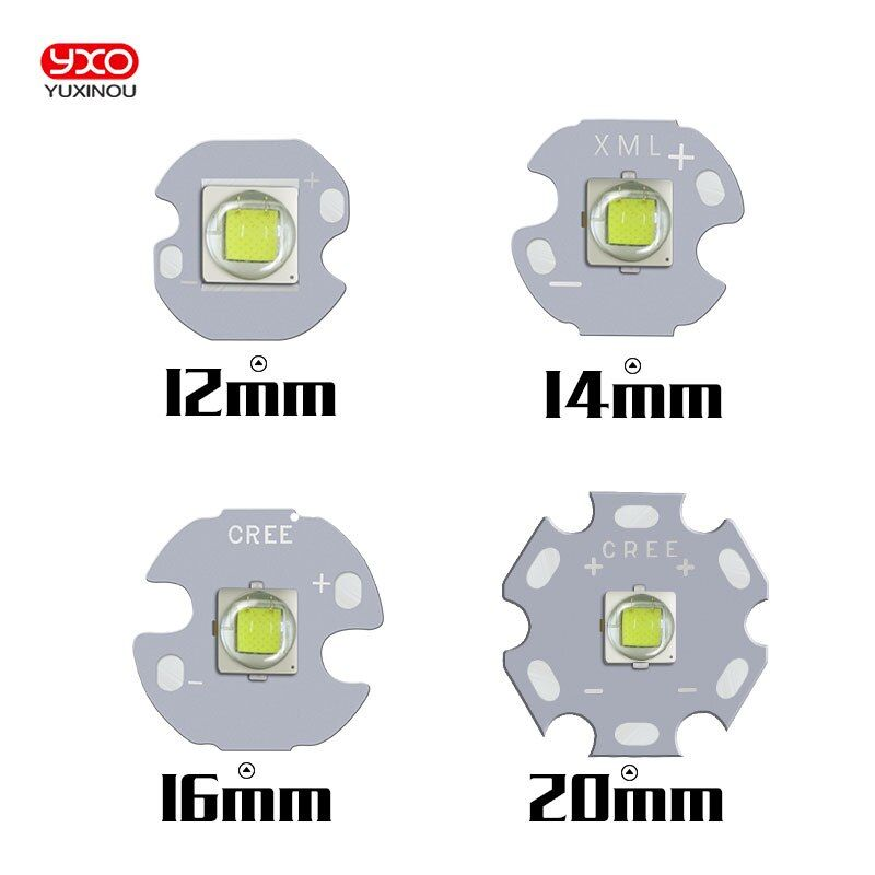 10PCS CREE XML2 LED XM-L2 T6 U2 10W WHITE Neutral White Warm White High Power LED Emitter with 12mm 14mm 16mm 20mm PCB for DIY