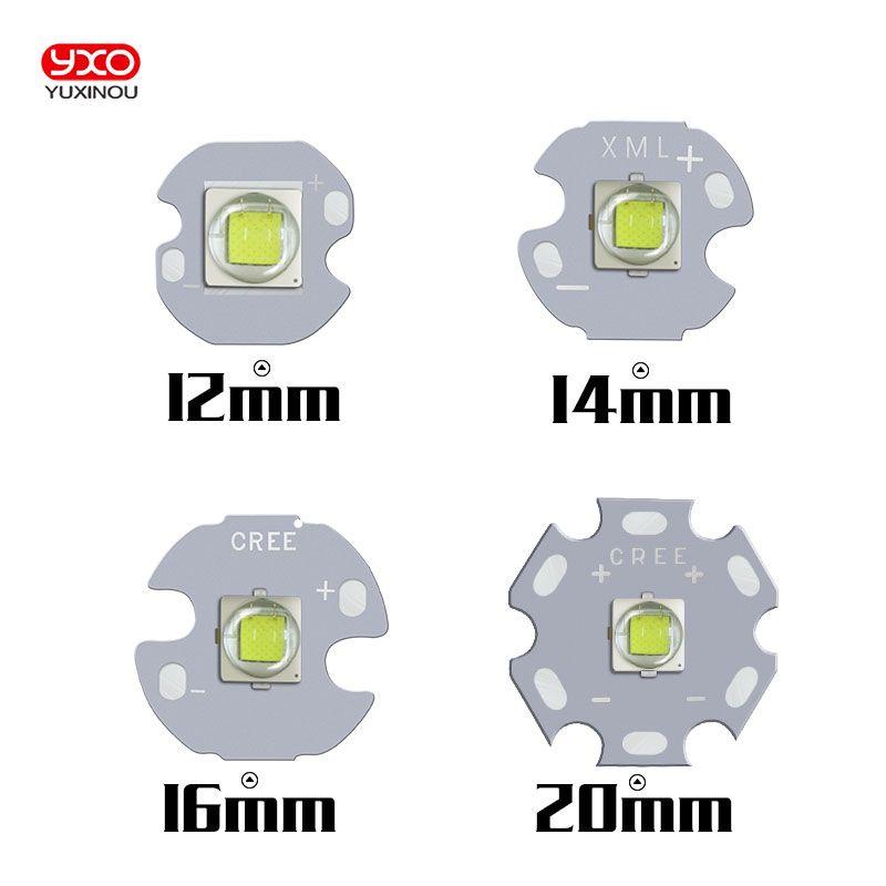 10PCS CREE XML2 LED XM-L2 T6 U2 10W WHITE Neutral White Warm White High Power LED Emitter with 12mm 14mm 16mm 20mm PCB for DIY