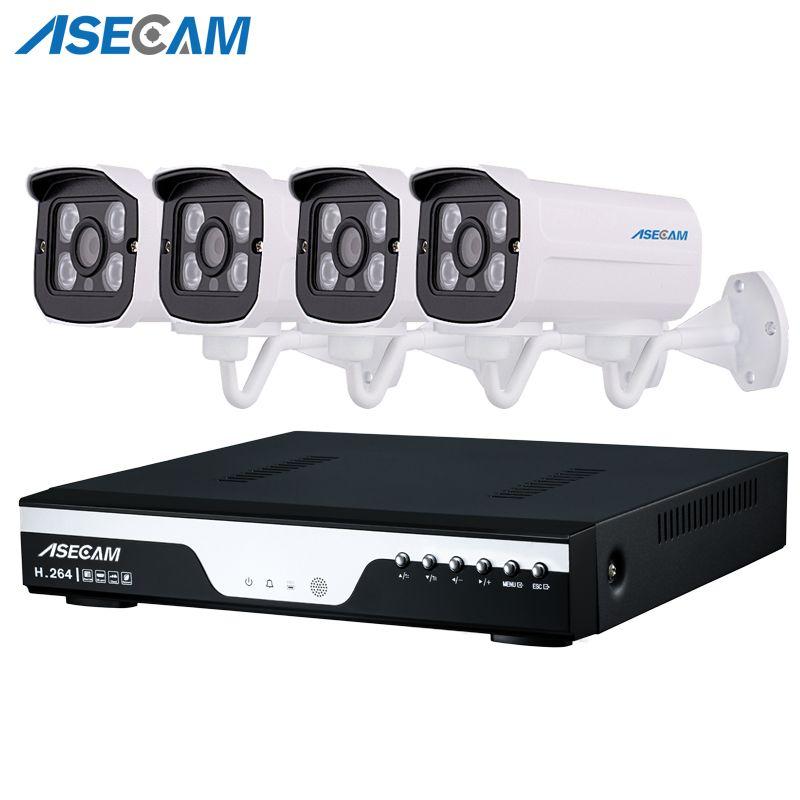 4ch Super HD 4MP CCTV Camera H.264 Video Recorder DVR AHD Home Outdoor Security Camera System Kit Array Video Surveillance P2P
