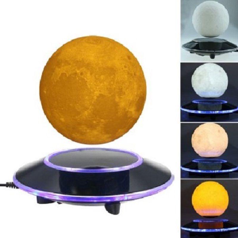 Магнитная левитации 3D Moon лампы дома декоративные лунный свет 12 см плавающий Спальня книжный шкаф ночника романтическое украшение дома