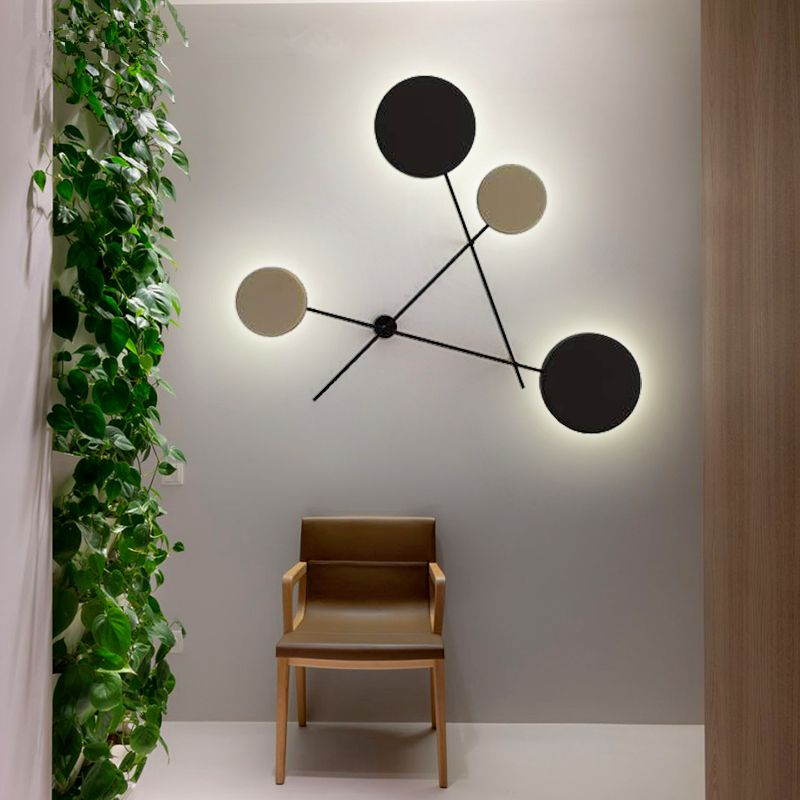 Novelty wall lamp Creative Modern home Lighting Restaurant Fixtures LED living room wall sconces Iron bedroom Wall lights