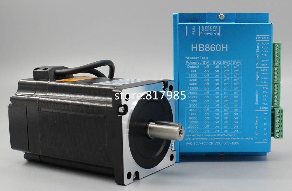 DC closed-loop Stepper motor 86HB250-156B+HB860H step motor 12.5N.m Nema 86 Hybird closed loop 2-phase stepper motor driver