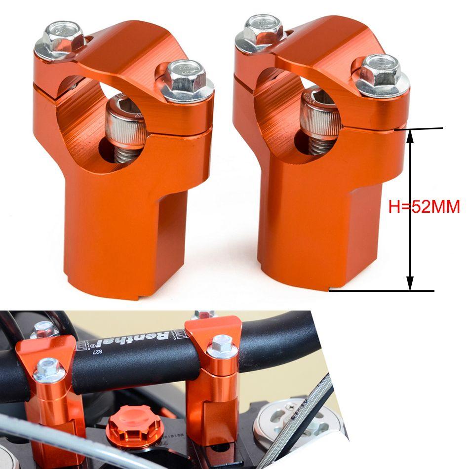 H2CNC 28mm Handlebar Riser Clamp Mount For KTM 125 150 250 350 450 525 530 540 SX SXF SXS EXC EXCF XC XCF XCW XCFW SMR Husqvarna