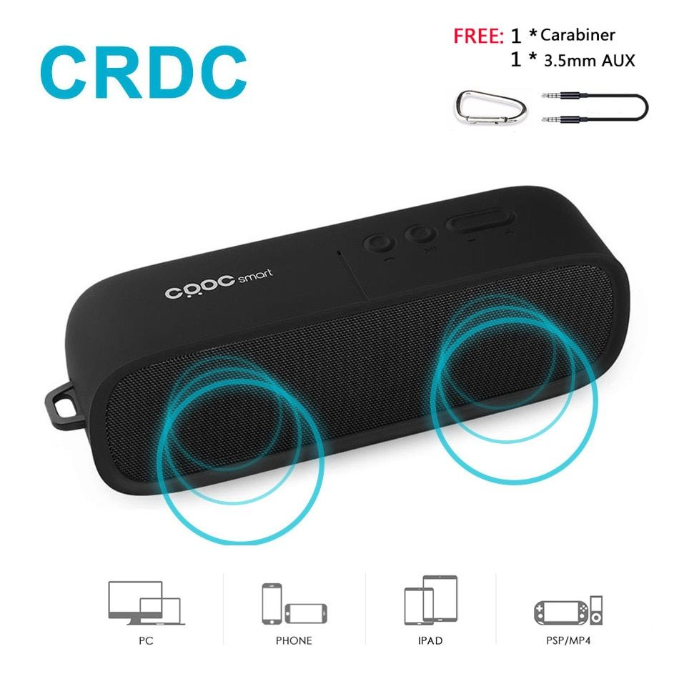 CRDC Bluetooth Speaker Wireless Stereo Portable MP3 Player Outdoor Mini Column Box <font><b>Loudspeaker</b></font> Handsfree with Mic for Xiaomi etc