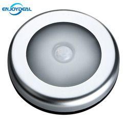 2018 Nouveau 6 LED PIR Body Motion Sensor Activé Mur Lumière Nuit Lumière Lampe À Induction Pour Placard Couloir Armoire CHAUDE