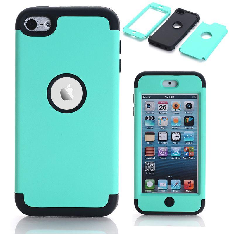 Fall Für Apple iPod Touch 6 Hybrid Hard Impact & Silikon Telefon Cases Fundas w/Displayschutzfolie + Stylus Pen Geschenke