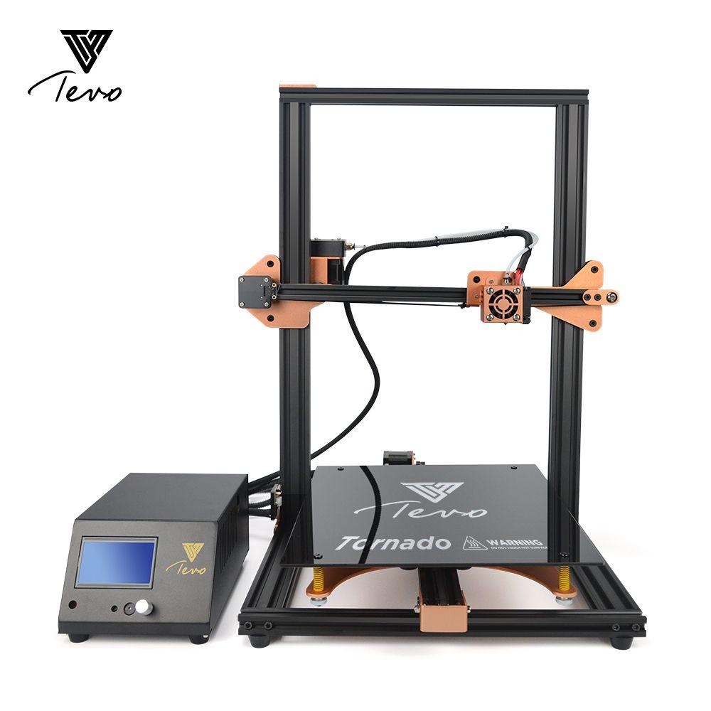 2019 Newsest TEVO Tornado Komplett Montiert 3D Drucker 3D Druck 300*300*400mm Große Druck Bereich 3D drucker Kit