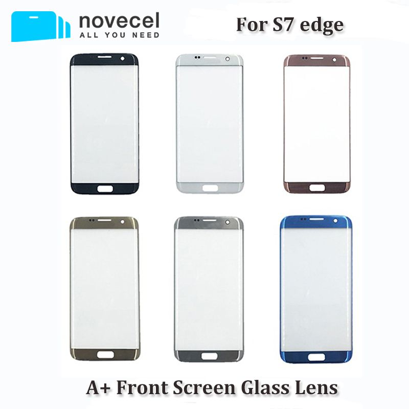 A+ Quality G935 G928 Front Glass Lens For S7 Edge LCD Display Front Touch Outer Touch Panel Screen Glass Replacement