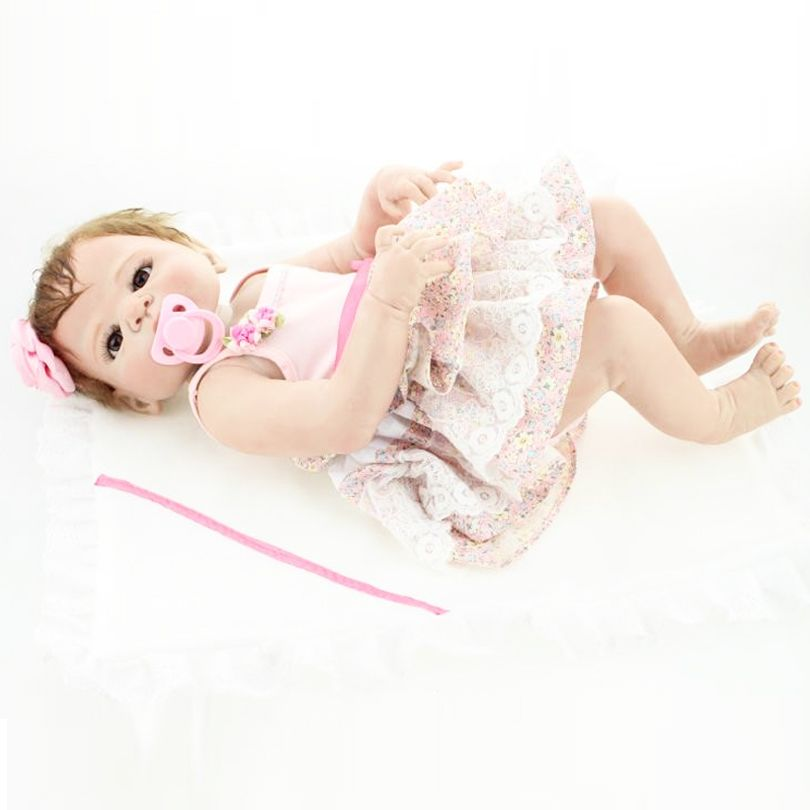 55 cm completo Cuerpo silicona bebé reborn muñeca realista recién nacido princesa bebés alive bebe Niñas bonecas bañarse juguete