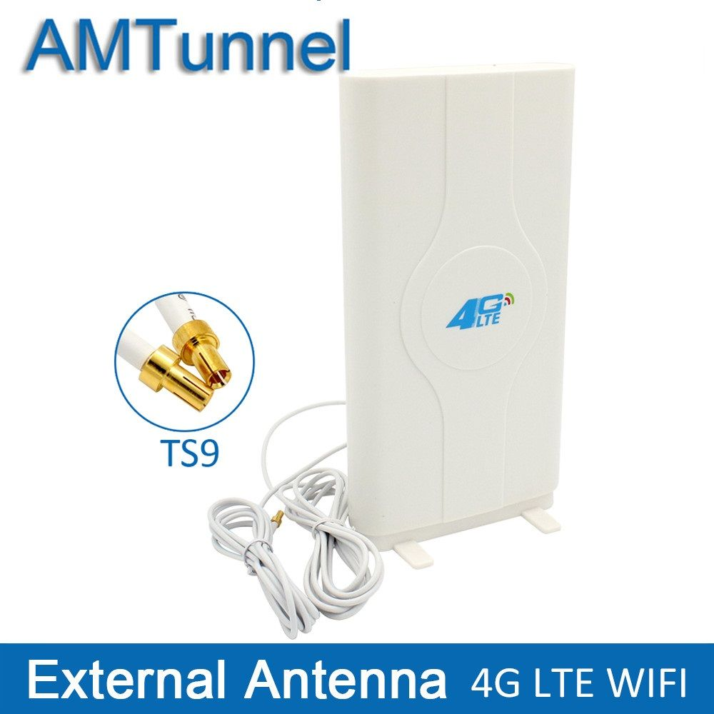 3G 4G LTE  External Panel Antenna TS9/ CRC9/SMA Connector and 2 meter cable 700-2600MHz  for 3G 4G Huawei router modem