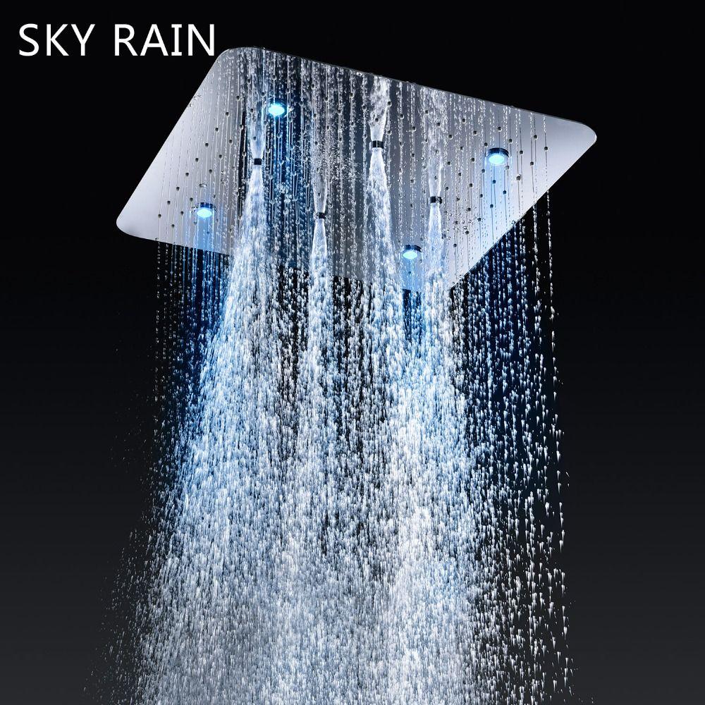 SKY REGEN LED Intelligente Thermostat Armaturen SPA Massage Spray Nebel Decke Montiert Badezimmer Dusche Set