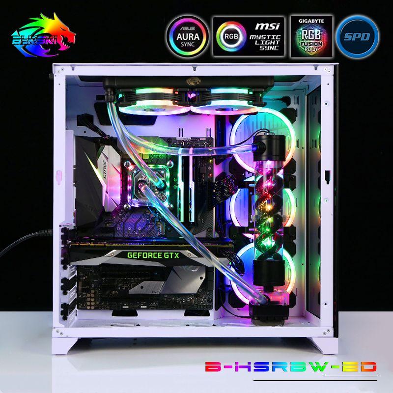 Bykski B-HSRBW-ED, RBW Lighting Hose Pipe Intel Program Kits, Multiple Programs Customizable Modification For Intel Cooling Kit