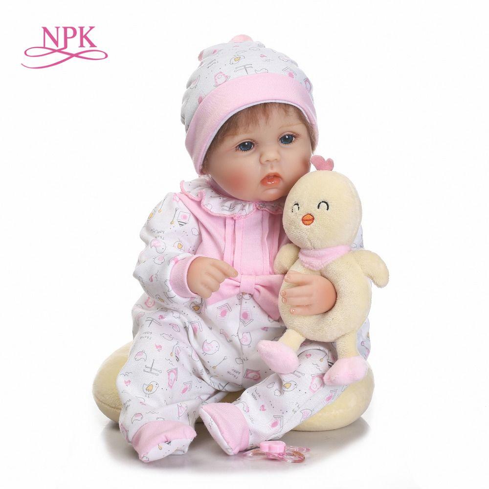 NPK Pretty Alice girl doll reborn 40cm soft cloth body silicone newborn dolls best children bebe gift dolls bonecas menina
