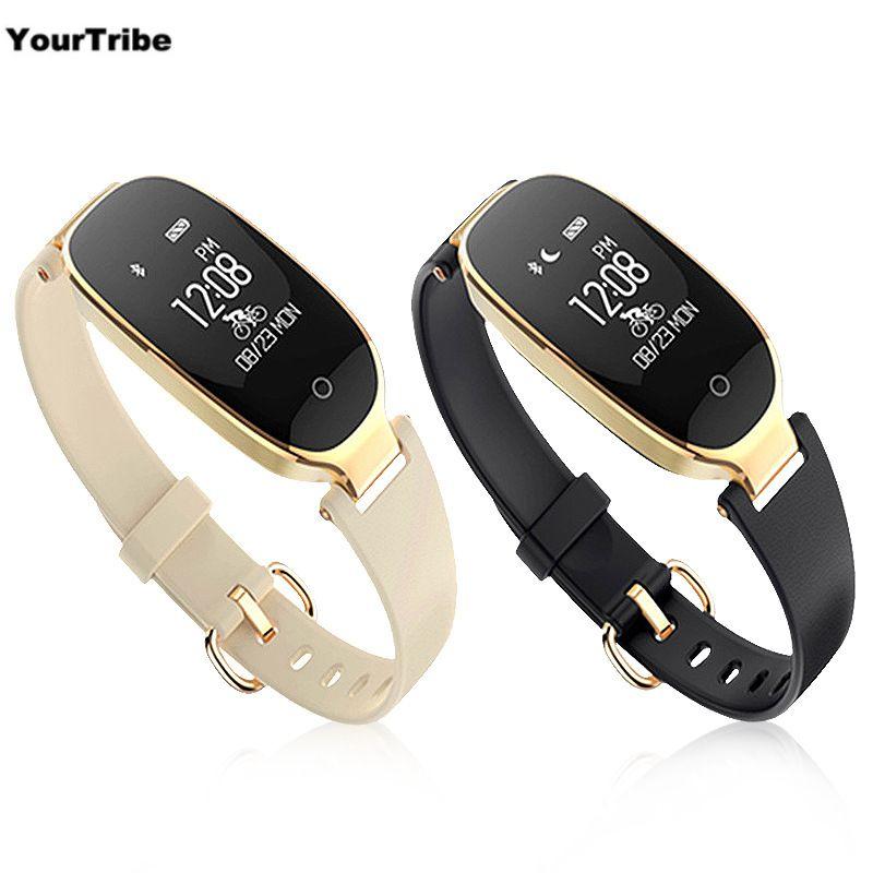 S3 Smart Bracelet Heart Rate Monitor Alarm Clock Waterproof Fitness Watch Tracker Pedometer Step Counter Smart Wristband black