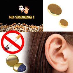2 PCS Aimant Auriculaire Arrêter de Fumer Zerosmoke ACUPRESSURE Patch Pas Cigarettes Santé Thérapie