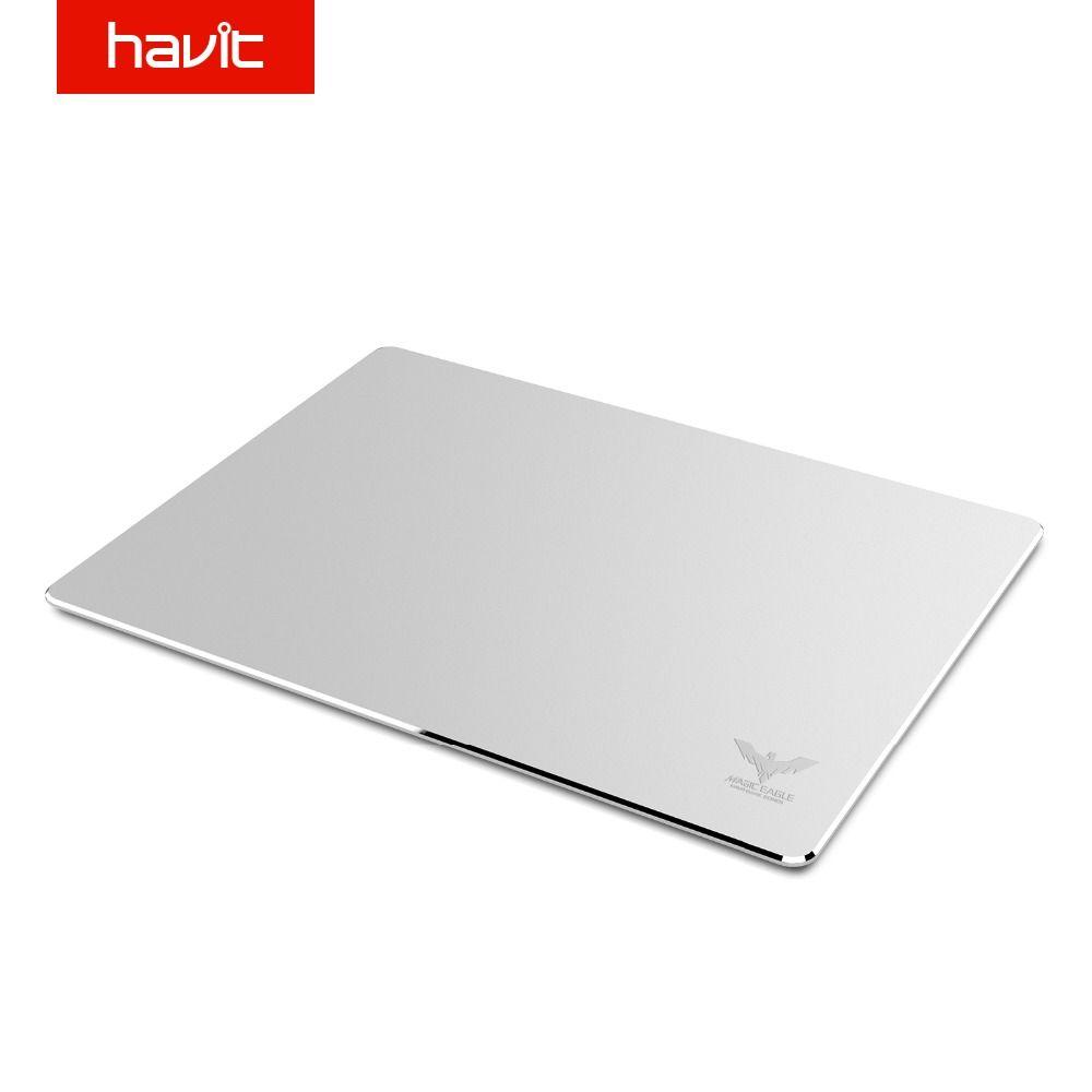 Tapis de souris de jeu HAVIT tapis de souris de jeu de Surface en aluminium imperméable tapis de souris mince pour MAC/PC HV-MP835 d'affaires de bureau à domicile