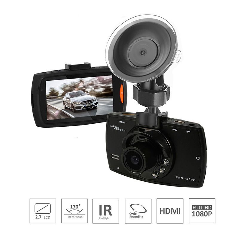 Car DVR Night Vision Dash Cam Full HD1080P 1200W Camera Wide Angle Lens Cycle recording Car Recorder With 2.7inch Screen