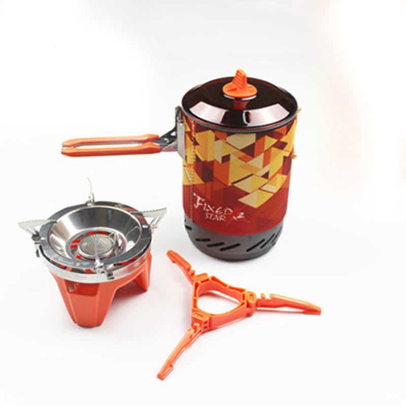 Fire Maple FMS-X2 One-Piece Camping Stove Heat Exchanger Pot Outdoor Camping Kitchen Cooking Stove 600g 1.0L Add Pot Rack